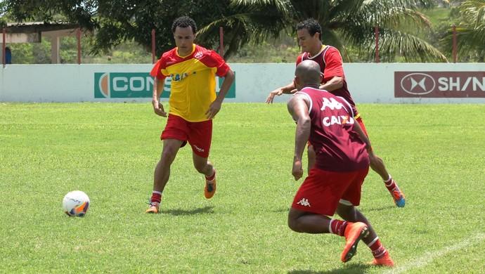 Gilmar treina no América-RN (Foto: Canindé Pereira/América FC)