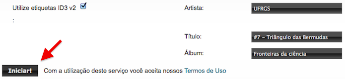 Adicione o título, artista e álbum (Foto: Reprodução/Helito Bijora)
