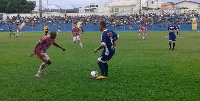 Funorte conseguiu o empate aos 43 minutos da etapa final (Foto: Cida Santana/GE)