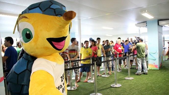 Ingressos Copa do Mundo em Manaus (Foto: Isabella Pina)