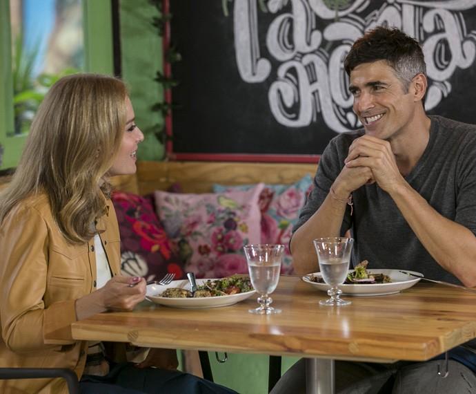 O ator conta que é viciado em se alimentar bem (Foto: Inácio Moraes/Gshow)