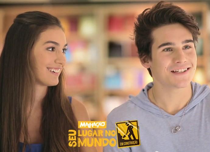 Marina Moschen e Nicolas Prattes participam da campanha 'Malhação 20 anos' (Foto: TV Globo)