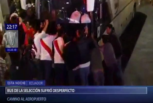 BLOG: Torcedores empurram ônibus enguiçado da seleção peruana após vitória em Quito