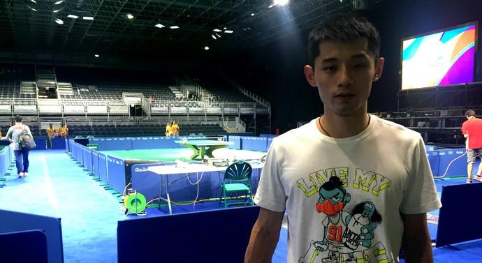 Zhang jike; tênis de mesa; olimpíadas 2016 (Foto: Elton de Castro)