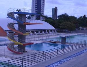 Parque Aquático da Vila Olímpica Ronaldo Marinho (Foto: Larissa Keren / GloboEsporte.com/pb)