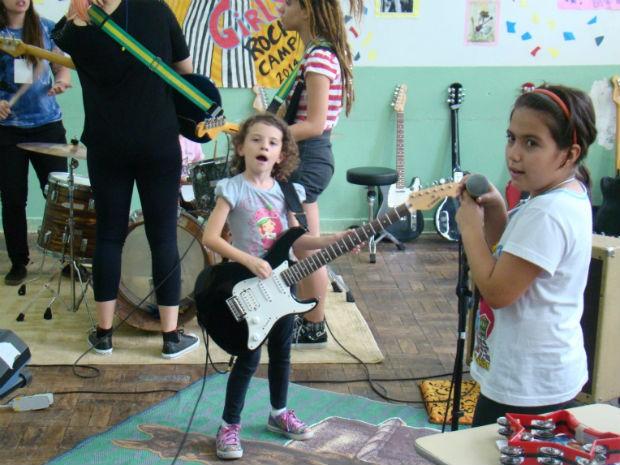 Girls Rock Camp Brasil, em Sorocaba (Foto: Fernando Cesarotti/G1)