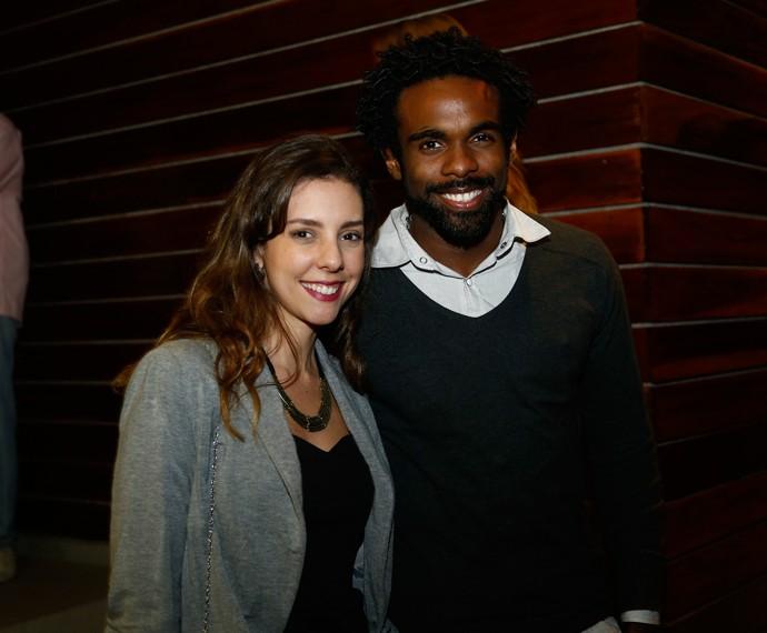 Os colaboradores Cláudia Sardinha e Fabrício Santiago também marcaram presença (Foto: Raphael Dias/Gshow)