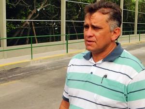 Francisco Cardoso, presidente da Amopin, ressaltou alegria com a obra (Foto: Ricardo Araújo/G1)