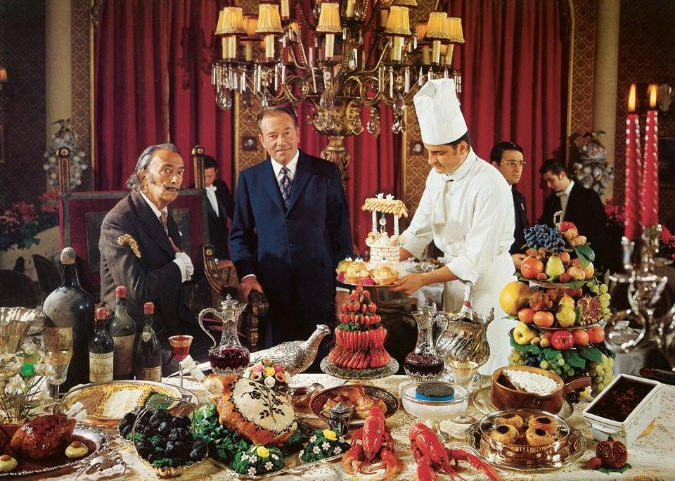Um dos jantares de Salvador Dalí (Foto: Divulgação)