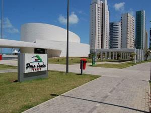 Parque Dona Lindu é uma das atrações do bairro (Foto: Vanessa Bahé / G1)