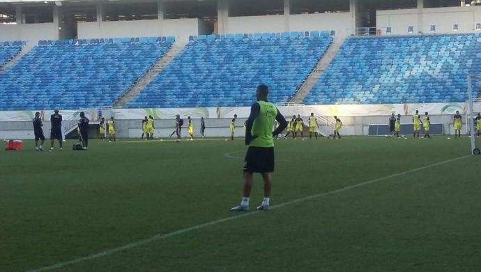 ABC treino Arena das Dunas Edson (Foto: Jocaff Souza/GloboEsporte.com)