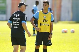 felipão araújo grêmio gramado pré-temporada (Foto: Lucas Uebel/Grêmio FBPA)