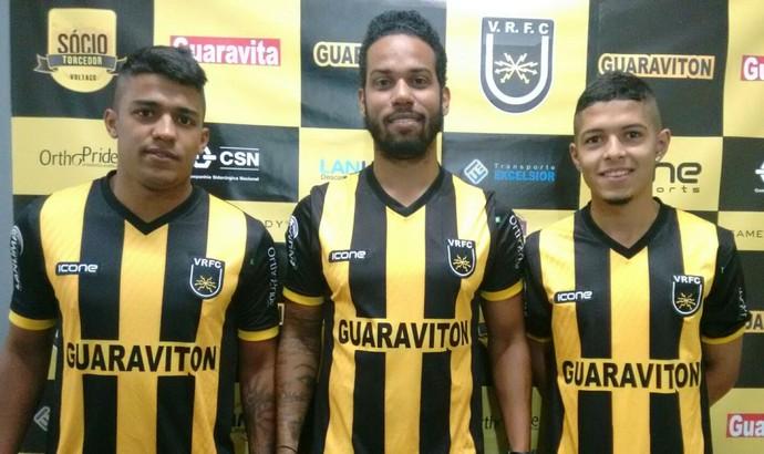 Digão, Fernando e Rafael Pernão foram anunciados nesta tarde (Foto: Pedro Borges/Fair Play Assessoria)