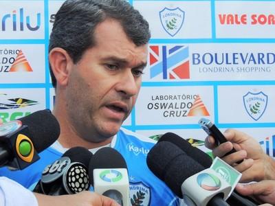 claudio tencati técnico Londrina (Foto: Pedro Rampazzo/ Londrina Esporte Clube)
