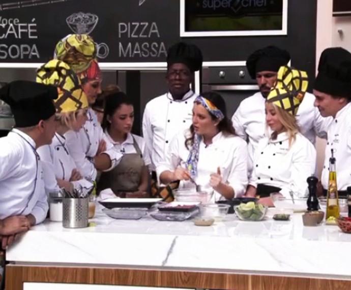 Chef Marisabel no workshop sobre ceviches (Foto: TV Globo)