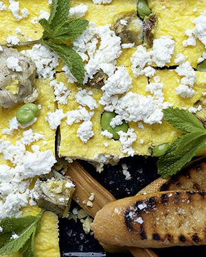 Frittata de alcachofra, favas e ricota (Foto: StockFood/Great Stock)