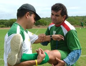 Cícero Ramalho no treino do Baraúnas (Foto: Divulgação)