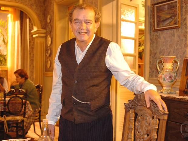 Umberto Magnani como Elias em 'Alma Gêmea', novela de 2005 (Foto: Márcio de Souza/TV Globo)