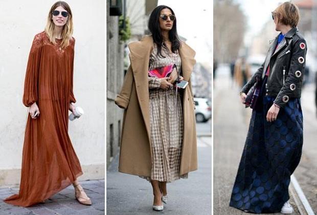 Vestidos e saias longas ganham pegada boho com rasteirinhas (Foto: Imaxtree)