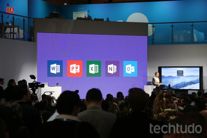 Microsoft MWC (Foto: Fabrício Vitorino/TechTudo)