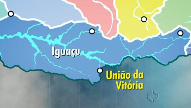 União da Vitória encara a maior enchente do Iguaçu nos últimos 20 anos (Foto: Reprodução)