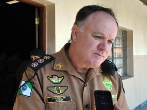 Coronel Kogut foi escolhido pelos bons resultados em Londrina, disse Richa (Foto: PM/Divulgação)