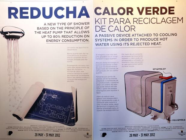 Ducha com bomba de calor e kit para reciclagem de calor (Foto: Ricardo Barreto/Divulgação)