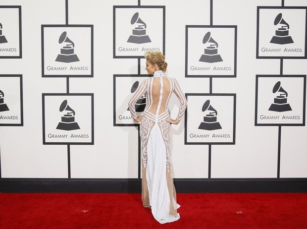 Paris HIlton no Grammy Awards (Foto: Reuters)