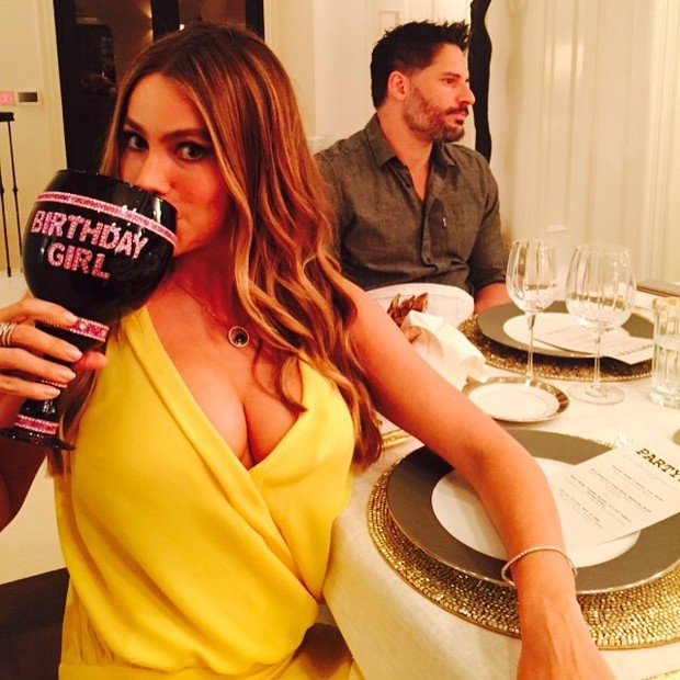 Sofia Vergara comemora aniversário com o noivo, Joe Manganiello  (Foto: Instagram/ Reprodução)