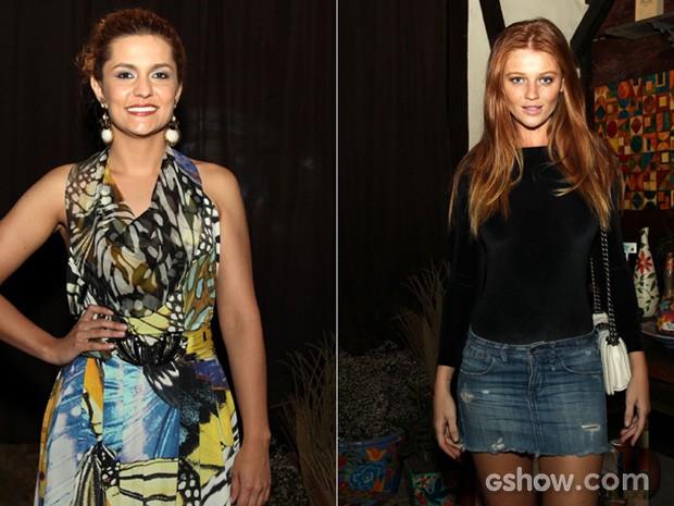 Paula Barbosa e Cintia Dicker brilham e esbanjam simpatia na noite de festa (Foto: Camila Camacho / TV Globo)