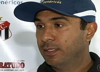 Felipe Surian, técnico do Anápolis (Foto: Reprodução/TV Anhanguera)