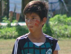 Thaylan Quiezza, atacante do Tupinikim Futebol Clube (Foto: Eduardo Dias/Globoesporte.com)