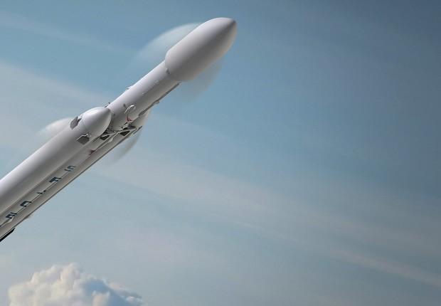 Falcon Heavy, da SpaceX (Foto: Reprodução/Facebook/SpaceX)