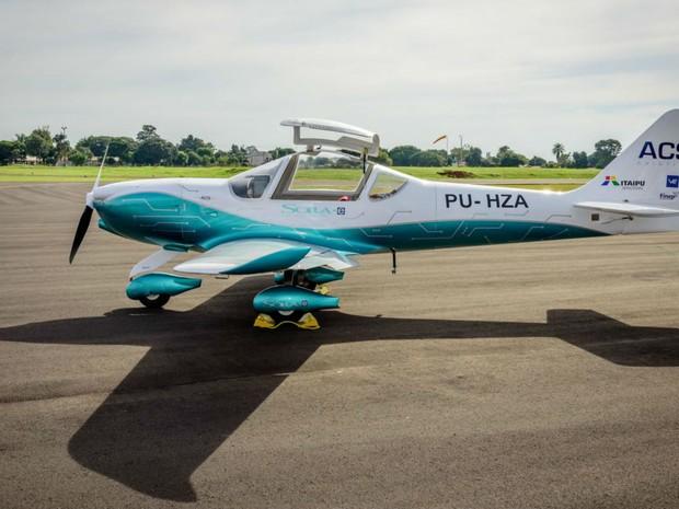 Voo foi de apresentação oficial do avião (Foto: Itaipu Binacional/ Divulgação)