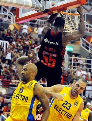 Final intercontinental de basquete Flamengo x Maccabi (Foto: André Durão)