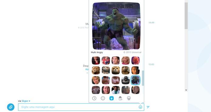 Hulk chega para representar o Moji de raiva no Skype (Foto: Reprodução/Barbara Mannara)