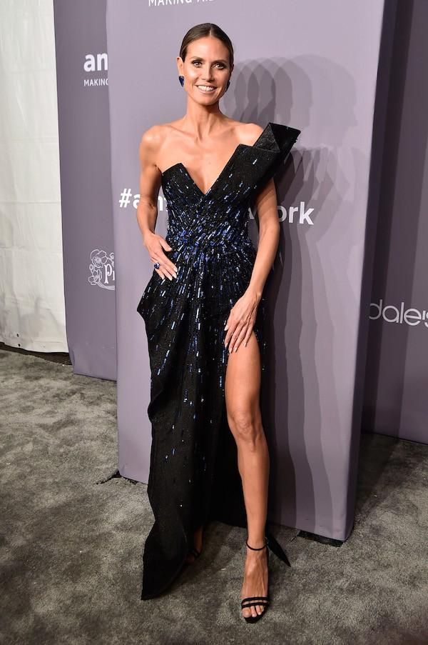A modelo Heidi Klum no amfAR Gala 2018 (Foto: Getty Images)