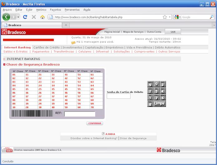 Exemplo de um site de banco falsificado, pois está sem o HTTPS (Foto: Reprodução/Fellipes Blog)