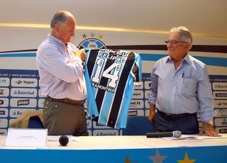 Grêmio anuncia a contratação de Felipão, que volta depois de 18 anos