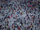 Festival de pesca em lago congelado na Coreia de Sul deve reunir 1 milhão