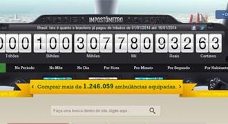 Impostômetro atingiu a marca de R$ 100  bilhões nesta quinta-feira (16) (Foto: Reprodução)