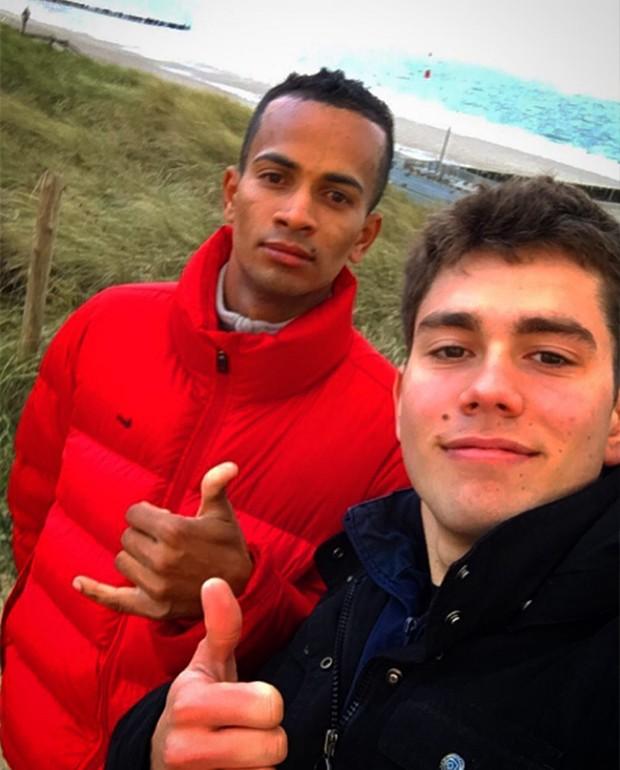 João Victor Marcari Oliva (à direita) (Foto: Reprodução/ Instagram)