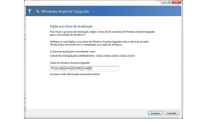 Chave de registro do Windows inserida para atualização (Foto: Reprodução/Raquel Freire)