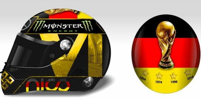 nico rosberg capacete homenagem alemanha campeã mundial (Foto: Reprodução/Twitter)