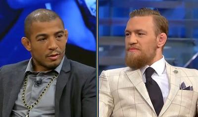 Frame da Aldo e McGregor (Foto: Reprodução / Fox Sports)