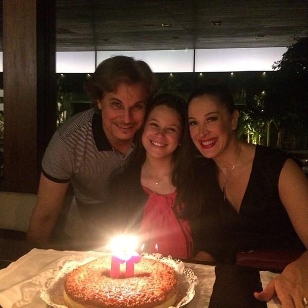 Edson Celulari e Claudia Raia no aniversártio da filha, Sophia (Foto: Instagram/ Reprodução)