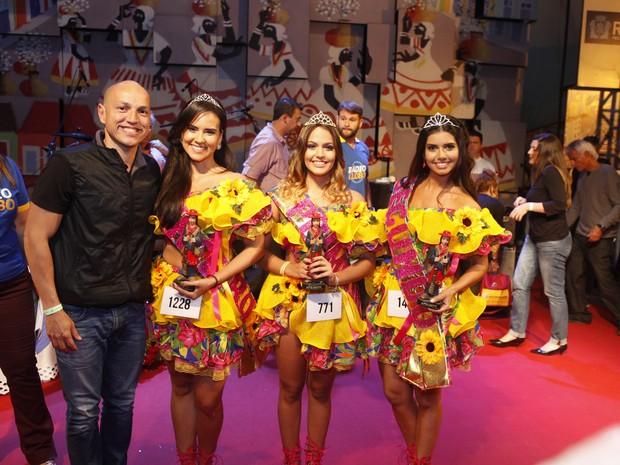 Fly, Kessia Alves, Maria Luisa e Renata Benevides no concurso Beleza Nordestina (Foto: Anderson Barros/ EGO)