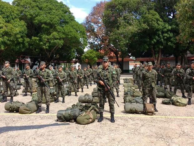 Homens do Exercito no Piauí vão reforçar segurança em Rio Grande do Norte  (Foto: João Cunha/G1)