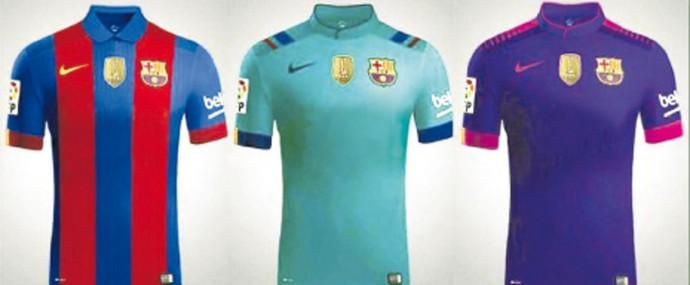 Nova camisa Barcelona sem patrocínio (Foto: Reprodução)