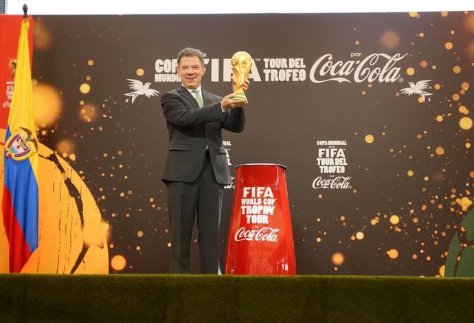 Juan Manuel Santos Colômbia Tour da Taça Copa 2014 (Foto: Divulgação)